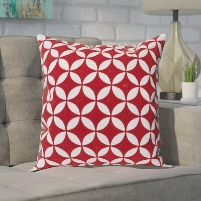 Baur Perimeter 100% Cotton Throw Pillow Cover Size: 22 H x 22 W x 1 D, Color: RedNeutral