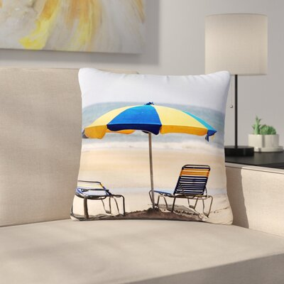 Angie Turner Umbrella - Coastal Photography Outdoor Throw Pillow Size: 16 H x 16 W x 5 D