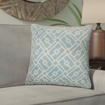 Kyara Geometric Cotton Throw Pillow Color: Turquoise