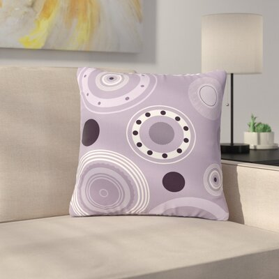 Alison Coxon Circles Digital Outdoor Throw Pillow Size: 18 H x 18 W x 5 D