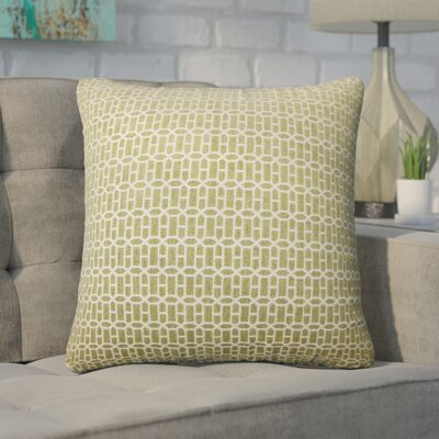 Wychwood Geometric Throw Pillow Color: Kiwi