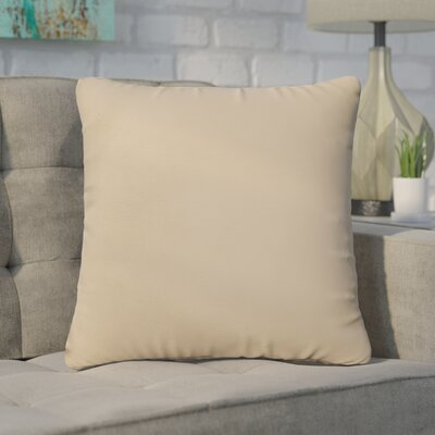 Branan Square Knife Edge Indoor/Outdoor Throw Pillow Size: 22 H x 22 W x 6 D, Color: Beige