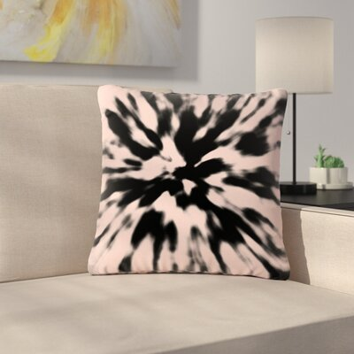 Nika Martinez Tie Dye Rose Abstract Outdoor Throw Pillow Size: 18 H x 18 W x 5 D