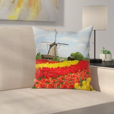 Windmill Decor Northern Europe Square Pillow Cover Size: 24 x 24