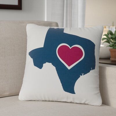 Andtree Texas Heart Throw Pillow