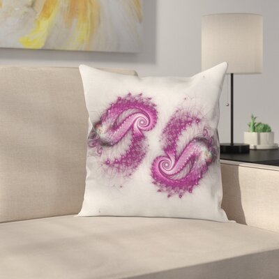 Psychedelic Hazy Blurry Square Pillow Cover Size: 18 x 18