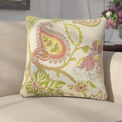 Martino Floral Linen Throw Pillow