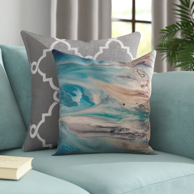 The Shore Beckons 2 Throw Pillow Size: 18 H x 18 W x 1.5 D