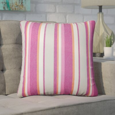 Wallin Striped Cotton Throw Pillow Color: Berry