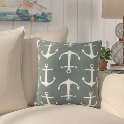 Curran Coastal Throw Pillow Color: Navy