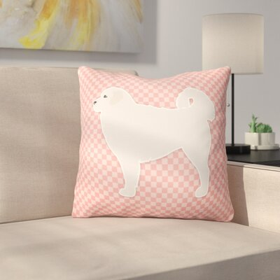 Polish Tatra Sheepdog Indoor/Outdoor Throw Pillow Size: 14 H x 14 W x 3 D, Color: Pink