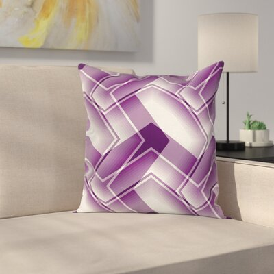 Trippy Digital Shapes Cushion Pillow Cover Size: 16 x 16