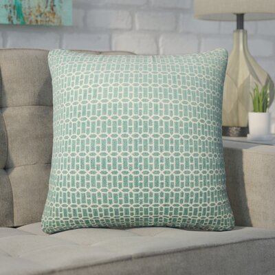 Wychwood Geometric Throw Pillow Color: Turquoise