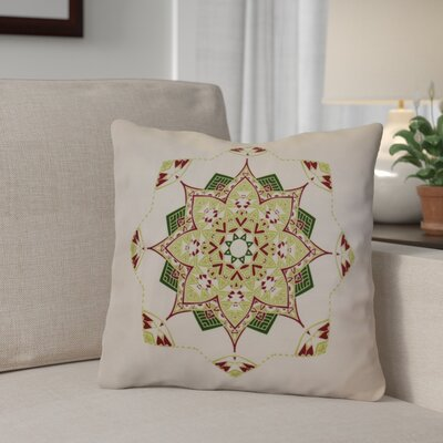 Aneesh Throw Pillow Size: 20 H x 20 W, Color: Cranberry