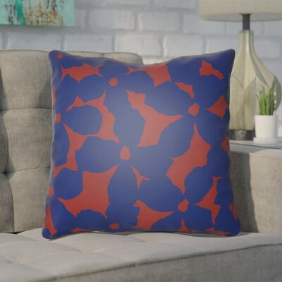 Gibson Throw Pillow Size: 20 H x 20 W x 4 D, Color: Blue/Red
