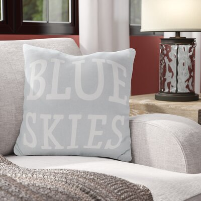Eaucourt Blue Skies Indoor/Outdoor Throw Pillow