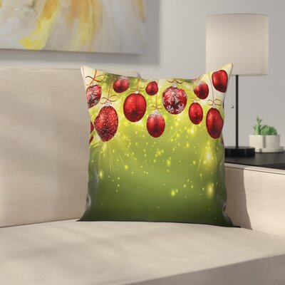 Christmas and Gold Party Square Pillow Cover Size: 16 x 16