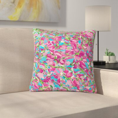 Empire Ruhl Abstract Spring Petals Outdoor Throw Pillow Size: 18 H x 18 W x 5 D