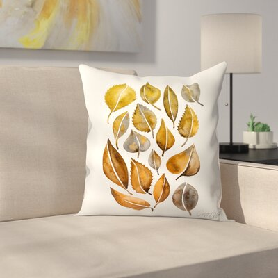 Cat Coquillette Rusy Fall Leaves Throw Pillow Size: 14 x 14