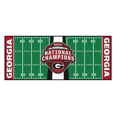 NCAA Red/Green Area Rug Team: University of Georgia