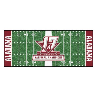 NCAA Red/Green Area Rug Team: University of Alabama