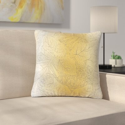 Stringham Floral Cotton Throw Pillow Color: Amber
