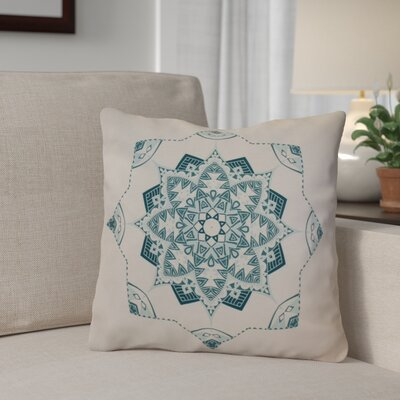 Aneesh Throw Pillow Size: 16 H x 16 W, Color: Teal