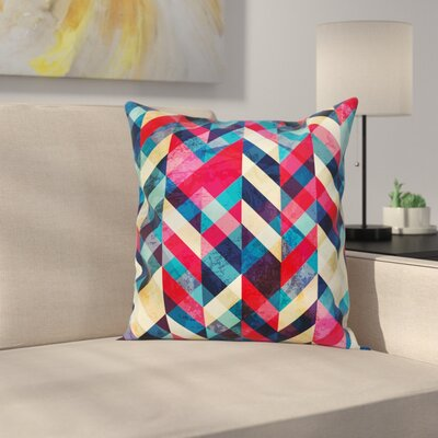 Chevron Herringbone Pattern Square Pillow Cover Size: 18 x 18