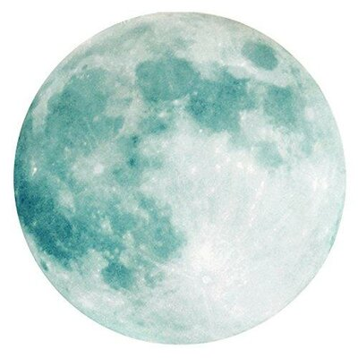 Glow in the Dark Moon Sticker Night Light