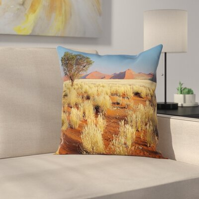 South Africa Desert Square Pillow Cover Size: 16 x 16