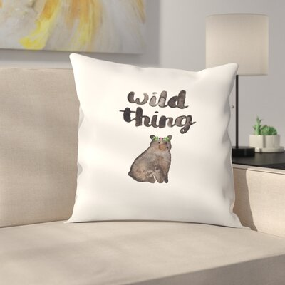 Elena ONeill Wild Thing Bear Throw Pillow Size: 14 x 14