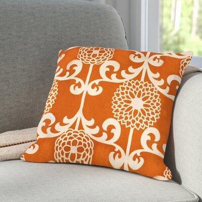 Roth Floret Cotton Throw Pillow Color: Citrus Orange