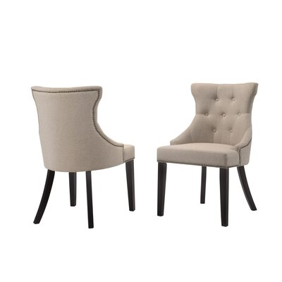 Haslett Upholstered Dining Chair Upholstery Color: Cream