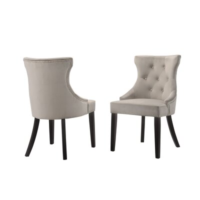 Haslett Upholstered Dining Chair Upholstery Color: Gray