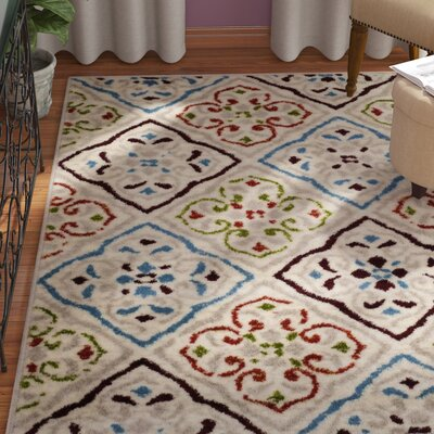 Lori Beige Area Rug Rug Size: Rectangle 3 x 5