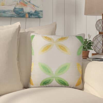 Bahama Ikat Throw Pillow Color: Yellow/Sage