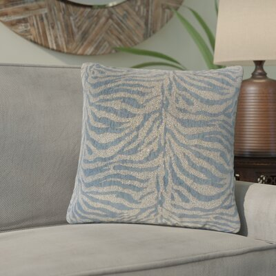 Port Laguerre Animal Print Throw Pillow Color: Blue