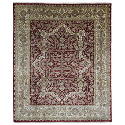 One-of-a-Kind Lossett Tabriz Oriental Hand-Woven Wool Red/Beige Area Rug