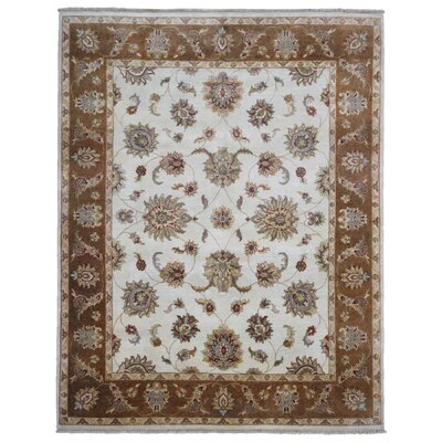 One-of-a-Kind Lott Peshawar Oriental Hand-Woven Wool Beige Area Rug