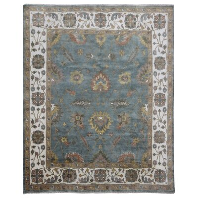 One-of-a-Kind Mitchel Oriental Hand-Woven Wool Blue/Beige Area Rug