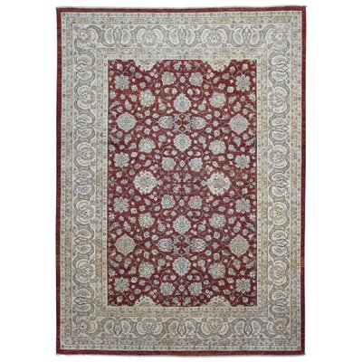 One-of-a-Kind Lore Pakistan Peshawar Oriental Hand-Woven Wool Red/Beige Area Rug