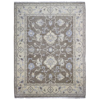 One-of-a-Kind Mitchel Oriental Hand-Woven Wool Gray Area Rug