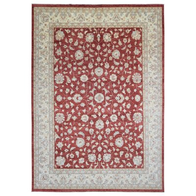 One-of-a-Kind Lorentz Pakistan Peshawar Oriental Hand-Woven Wool Light Red/Beige Area Rug
