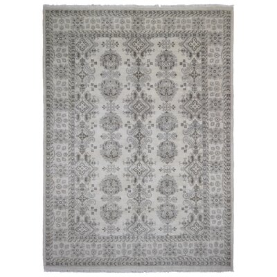 One-of-a-Kind Mitchel Oriental Hand-Woven Wool Gray/Beige Area Rug