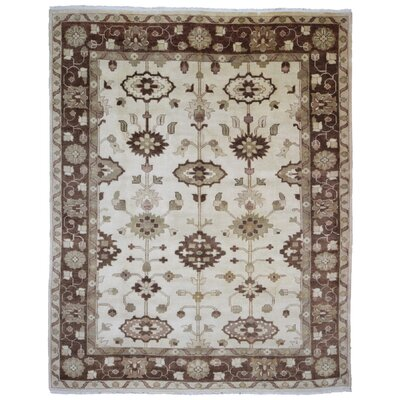 One-of-a-Kind Mitchel Oriental Hand-Woven Wool Beige/Brown Area Rug