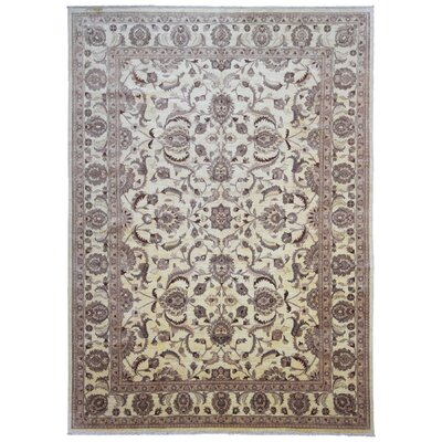 One-of-a-Kind Pakistan Lorenzen Peshawar Oriental Hand-Woven Wool Beige/Brown Area Rug