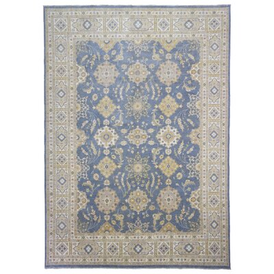 One-of-a-Kind Crider Pakistan Peshawar Hand-Woven Wool Blue/Beige Area Rug
