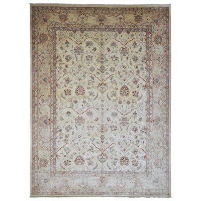 One-of-a-Kind Lorenzo Pakistan Peshawar Oriental Hand-Woven Wool Beige/Brown Area Rug