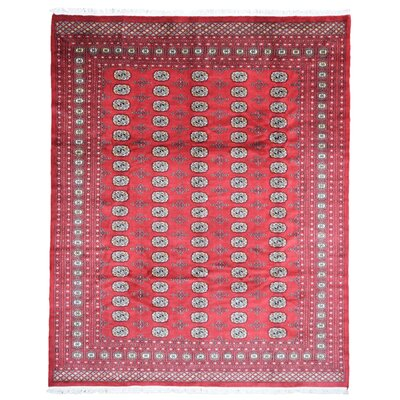 One-of-a-Kind Louque Pakistan Bukhara Oriental Hand-Woven Wool Red Area Rug