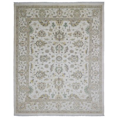 One-of-a-Kind Criner Pakistan Peshawar Oriental Hand-Woven Wool Beige Area Rug